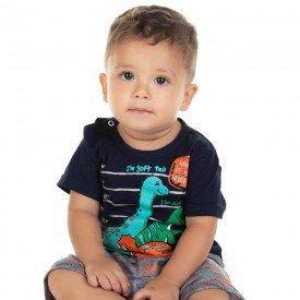 conjunto bebe menino camiseta e bermuda saruel marinho cinza 11676 9542