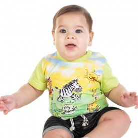 camiseta bebe menino my friends amarelo carambola 11683 9549