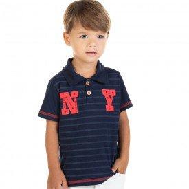 camisa infantil masculina polo ny marinho 11699 9562
