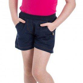 shorts infantil feminino cotton jeans marinho 22138 22234 9693