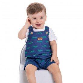 jardineira bebe menino jacarezinhos marinho 22004 9703