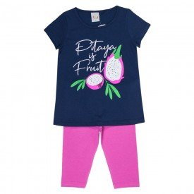 conjunto infantil feminino pitaya marinho pink kw203 9398