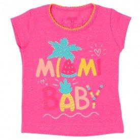 blusa bebe menina miami baby rosa 11609 9519