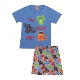 pijama infantil masculino monsters azulcinza 22241 9717