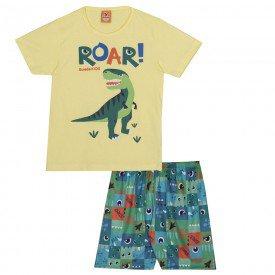 pijama infantil masculino dinos amarelocolorido 22242 9719