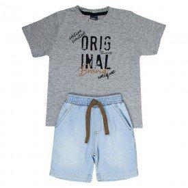 conjunto infantil masculino original mescla jeans light 5330 9336