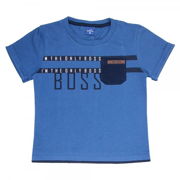 camiseta infantil masculina boss indigo 6334 9360