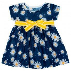 vestido bebe menina marinho margarida 11611 9520
