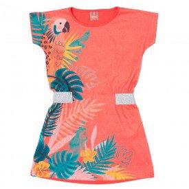 vestido infantil feminino coral 11655 9537