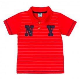 camisa infantil masculina polo ny vermelho 11699 9561