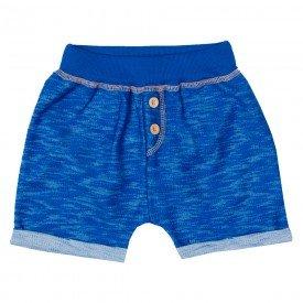 bermuda infantil masculina moletinho devore azul jeans 11703 9565