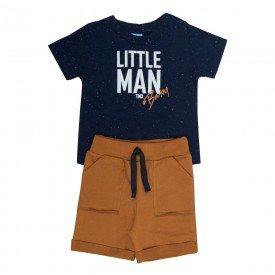 conjunto bebe menino little man marinho caramelo 4081 9318