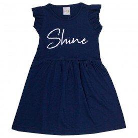 vestido infantil feminino shine marinho kw204 9399