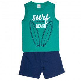 conjunto infantil masculino surf verde marinho kw603 9413 2