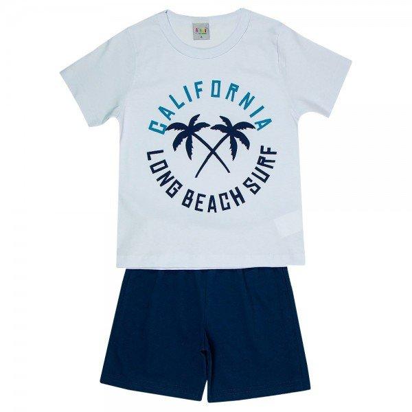 pijama infantil masculino california branco marinho kw703 9416