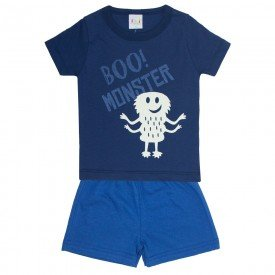 pijama infantil masculino monster marinho indigo kw701 9408 2