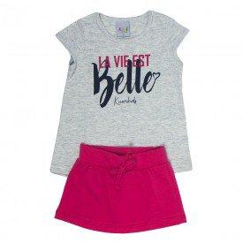 conjunto infantil feminino belle mescla lightmelancia kw100 9386
