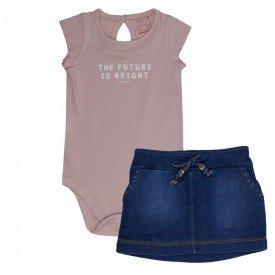 conjunto bebe menina future rosa candy jeans confort medio 0085 9295
