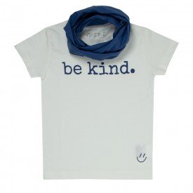t shirt infantil unissex off white be kind gola blue lab c 04 05 09 g 09