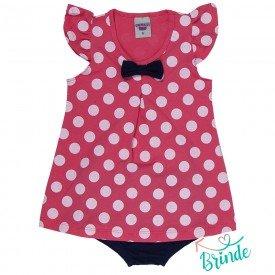 vestido bebe menina poa com calcinha melancia marinho 4503 9055