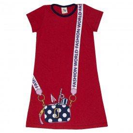 vestido infantil feminino fashion world vermelho 161078 9440