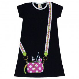 vestido infantil feminino fashion world preto 161078 9441