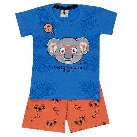 conjunto bebe menino coala azul azure laranja 161003 9454