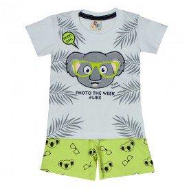 conjunto bebe menino coala branco lima 161003 9455 2
