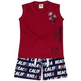 conjunto infantil masculino regata beach vermelho marinho 161024 9482
