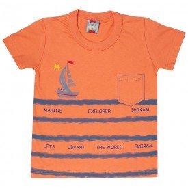 camiseta infantil masculina explore laranja 161012 9468