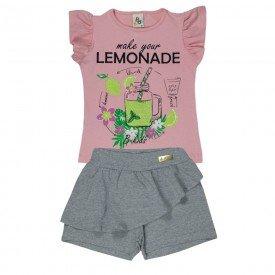 conjunto infantil feminino lemonade rosa light mescla 161084 9444