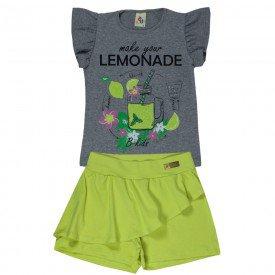 conjunto infantil feminino lemonade mescla lima 161084 9443 2