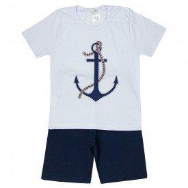 conjunto camiseta branca e bermuda listrada marinho 1136 3598