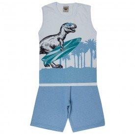 conjunto regata branca e bermuda azul infinity rex surf 3985 4628