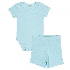 conjunto bebe body canelado e shorts azul olv 003