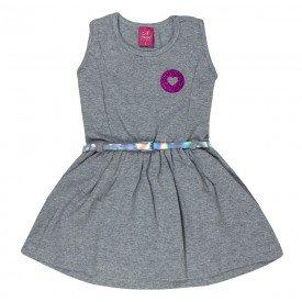 vestido cotton com glitter mescla 3520 00451