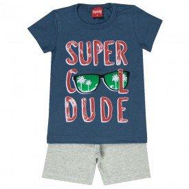 conjunto camiseta chumbo cool dude e bermuda mescla 4344 3960