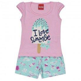 conjunto blusa silk rosa summer e short 4308 3883