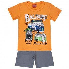 conjunto camiseta laranja balisurf e bermuda 4337 3939