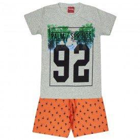 conjunto camiseta mescla e bermuda tactel 4553 3988