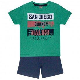 conjunto camiseta verde san diego e bermuda marinho 663 5285