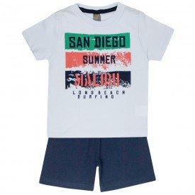 conjunto camiseta branca san diego e bermuda marinho 663 5284