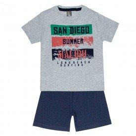 conjunto camiseta mescla san diego e bermuda marinho 663 5286