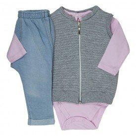 trijunto bebe menina rosa cha branco moletom jeans 0070 8036 1