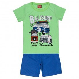 conjunto camiseta verde balisurf e bermuda 4337 3941