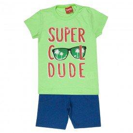 conjunto camiseta verde cool dude e bermuda marinho 4344 3962