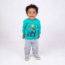 conjunto infantil masculino moletom verde ceramic e calca mescla 4165d 8316 2