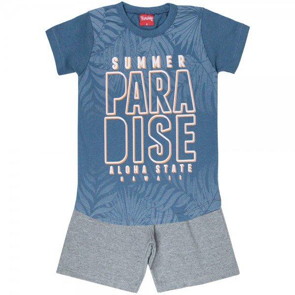 conjunto camiseta chumbo paradise e bermuda 4348 3972