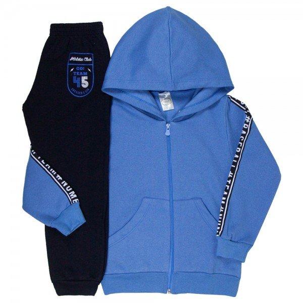 conjunto infantil masculino sport azul e preto 9250 9232 8468