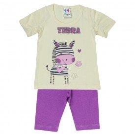 conjunto menina off silk zebra com legging 197 00545
